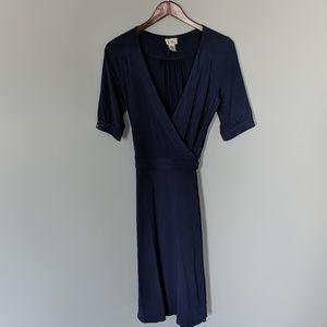 Vintage Lilly Pulitzer Navy Wrap Dress w Gold